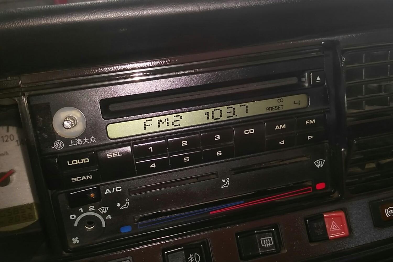 上汽大众新桑塔纳收音机接线图